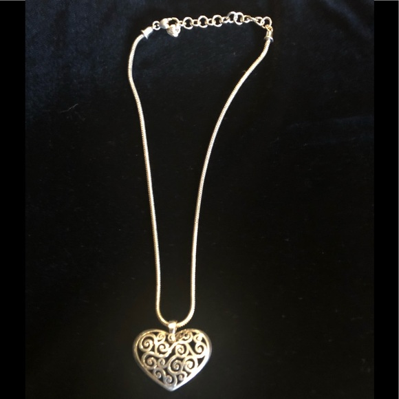 Brighton charm necklace 18 12 in adjustable chain.